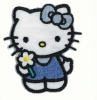 Applikation - Hello Kitty blau mit Schleife